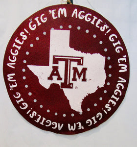 Texas A&M Burlap Wall Decor