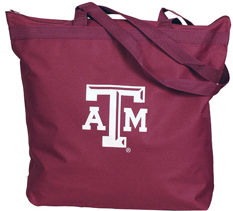 Texas A&M Zipper Tote
