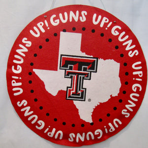 Texas Tech Burlap Wall Decor