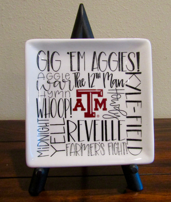 Texas A&M Fan Trinket Tray