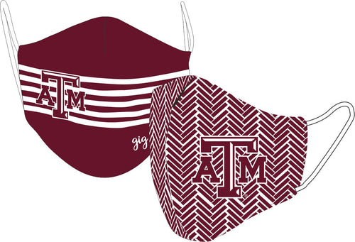 Reversible Texas A&M Face Mask