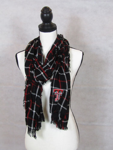 Texas Tech Window Pane Scarf