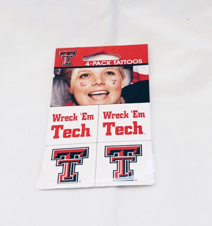 Texas Tech 4 Pack Tattoos