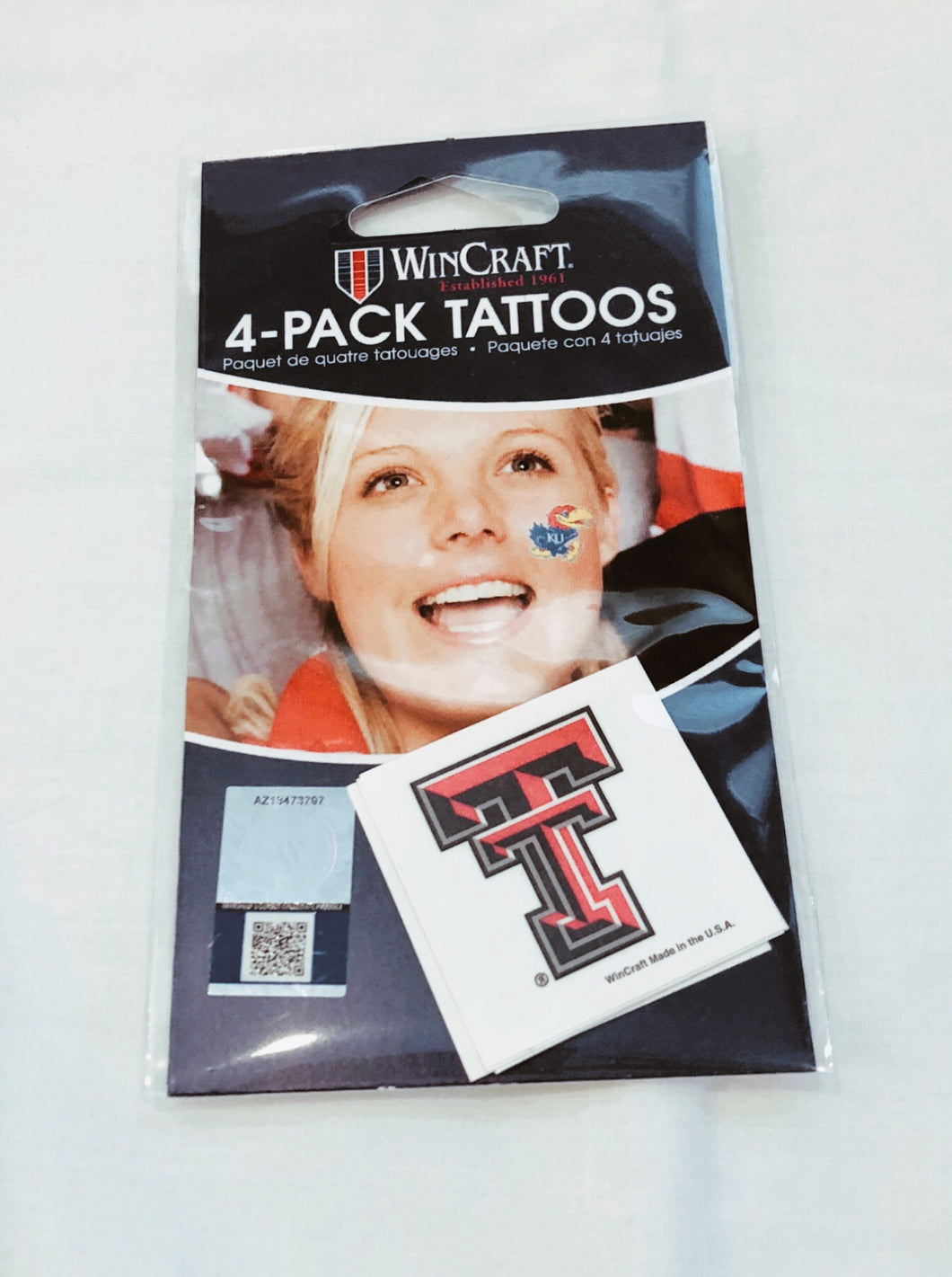 Texas Tech  4 Pack Double T Tattoos