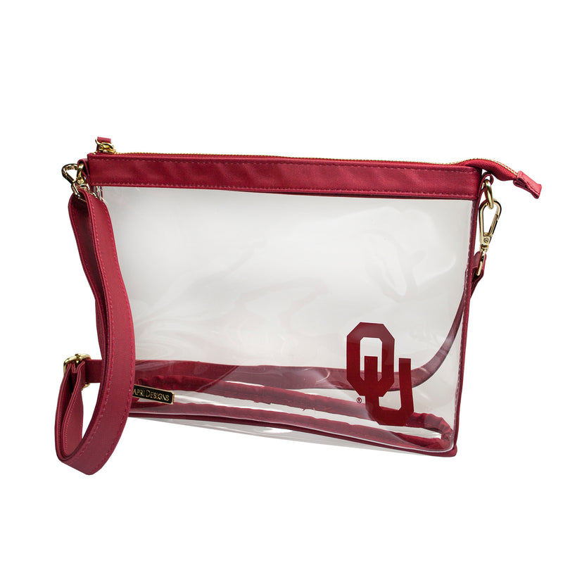 OU Large Clear Crossbody