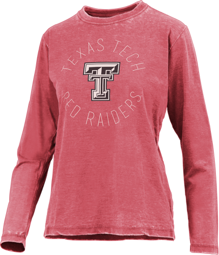 Texas Tech Double T Vintage Wash Long Sleeve