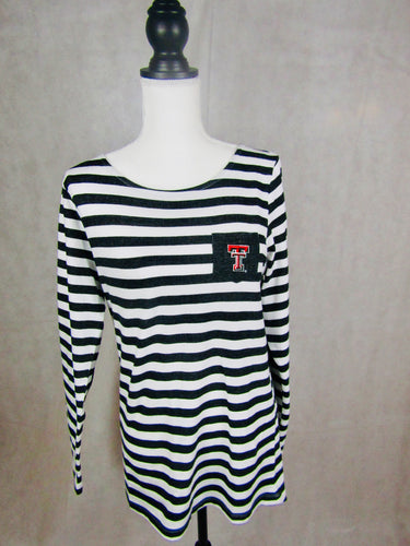 Texas Tech Elbow Patch Long Sleeve