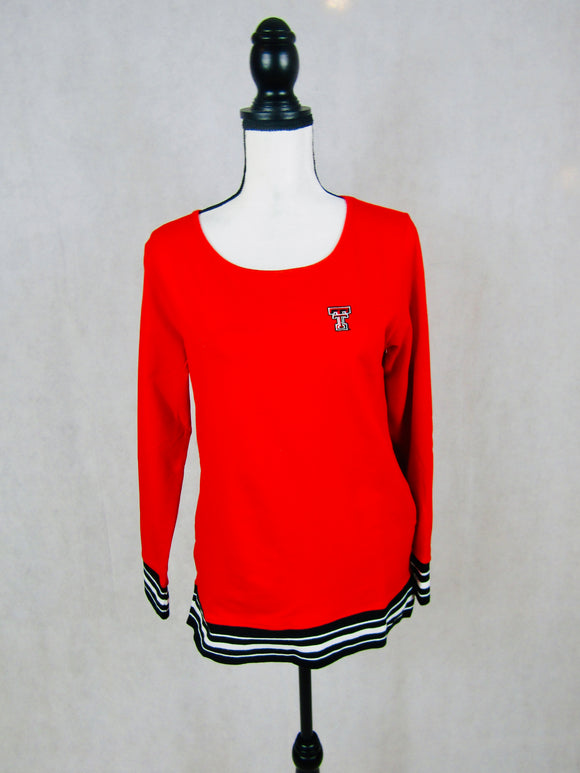 Texas Tech Striped Rib Pullover