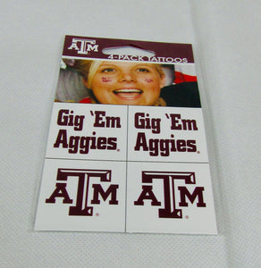 Texas A&M Face Tattoos