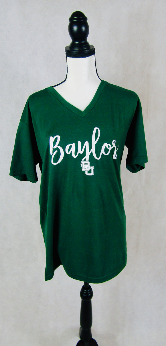 Baylor Green V Neck