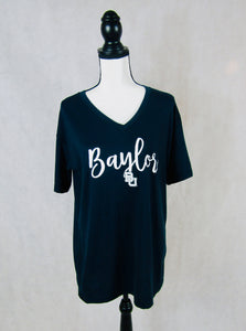 Baylor Navy V Neck