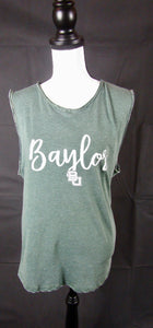 Baylor Green Vintage Wash Tank Top