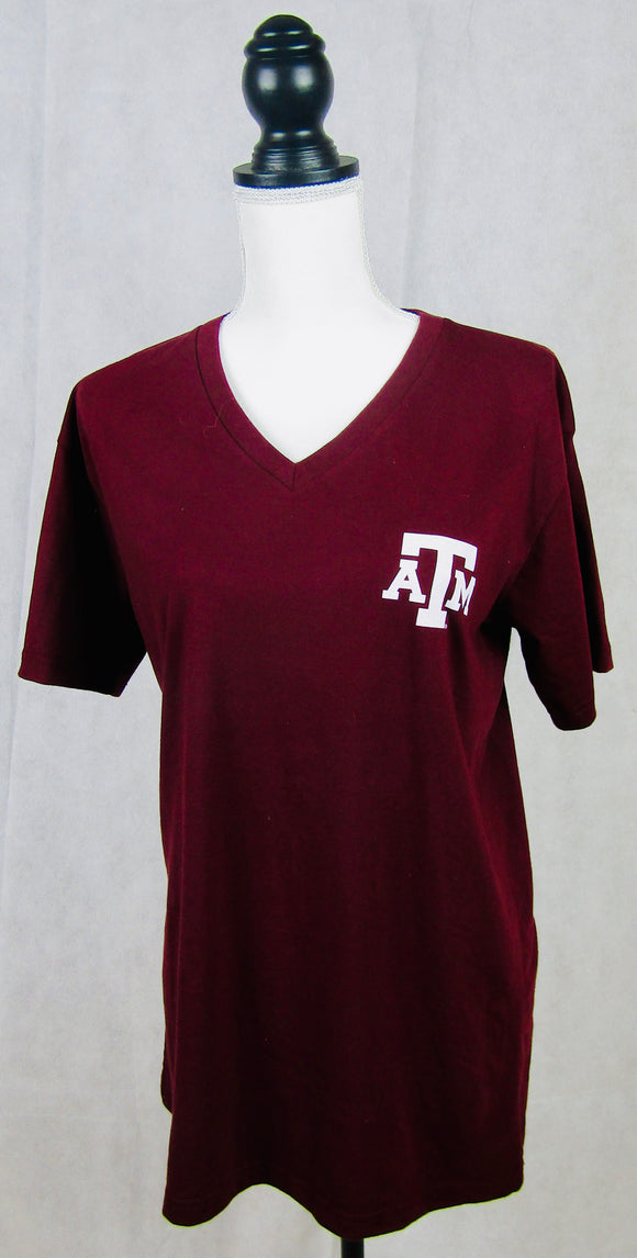 Texas A&M Short Sleeve V Neck