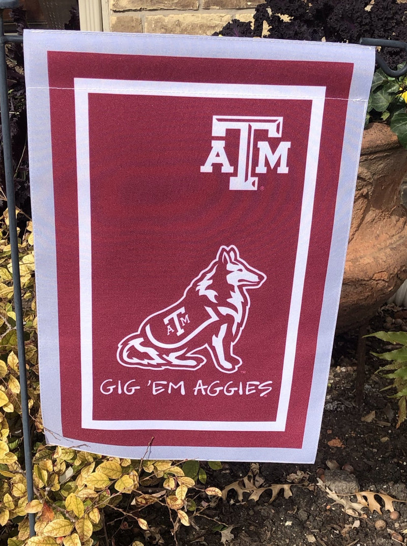Texas A&M  Mascot Garden Flag