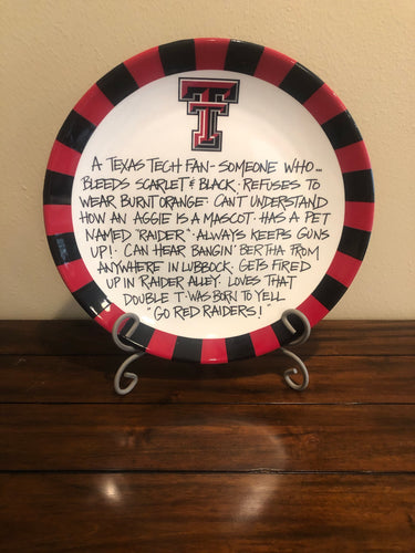 Texas Tech  Fan Plate