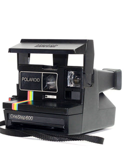 Polaroid One Step 600 - Rainbow Stripe Polaroid Camera - Refurbished