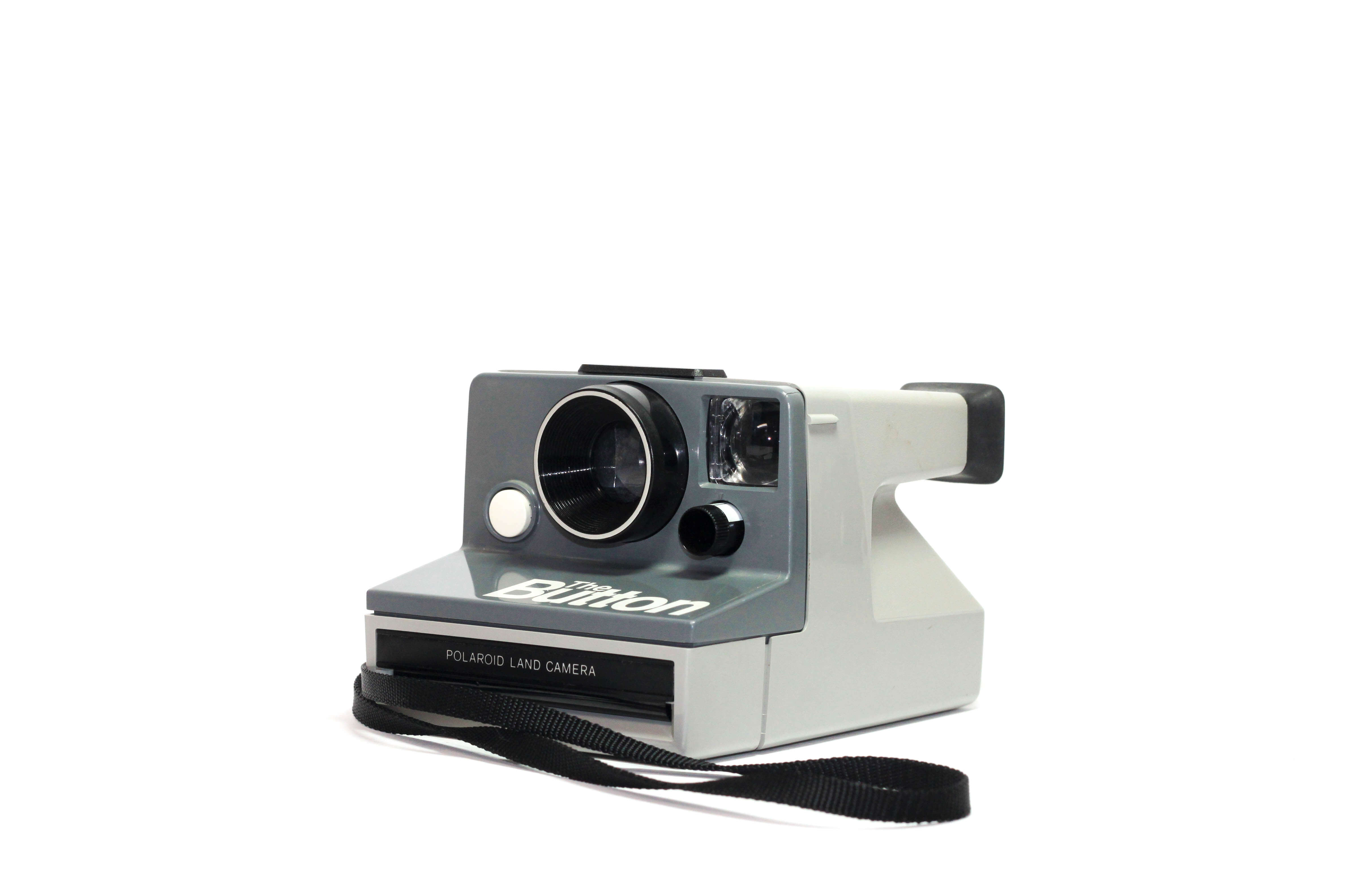 Polaroid Camera the button