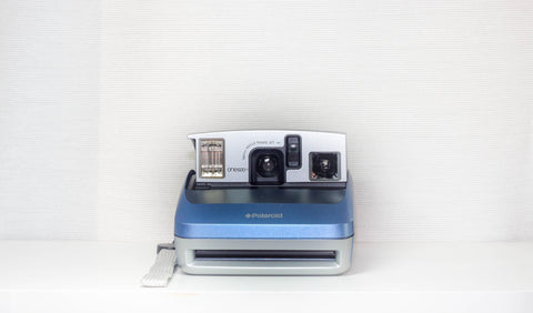Polaroid One600 - Blue & Silver Polaroid Camera Tested - Refurbished