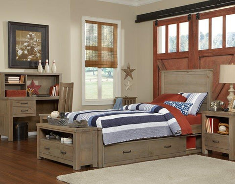 Shop Hillsdale Hudson (Highlands) Driftwood Full Panel Bed at Mealey's Furniture