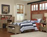 Shop Hillsdale Hudson (Highlands) Driftwood Twin Panel Bed at Mealey's Furniture