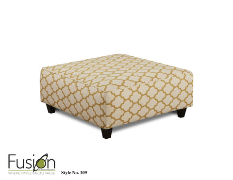 Shop Fusion Maxwell Cocktail Ottoman at Mealey's Furniture