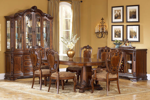 Old World Dining Room Table & 4 Side Chairs