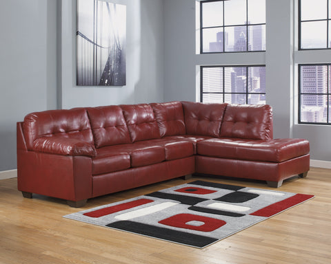 Shop Ashley Alliston DuraBlend Salsa 2 Piece Sectional at Mealey's Furniture