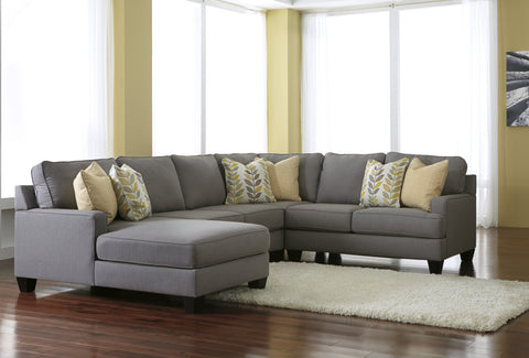 Shop Ashley Chamberly Alloy Left Side Chaise 4 Piece Sectional at Mealey's Furniture