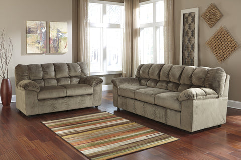 Shop Ashley Furniture Julson Dune Sofa & Loveseat at Mealey's Furniture