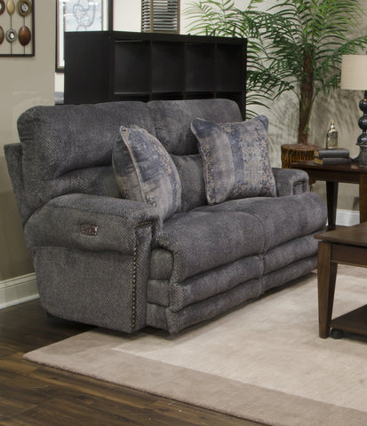 Shop Catnapper Garrison Pewter Power Reclining Loveseat at Mealey's Furniture