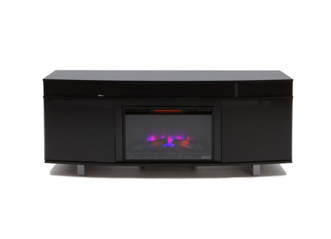 Shop Twin Star Ovation Black Fireplace with Logs at Mealey's Furniture