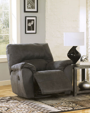 Shop Ashley Furniture Tambo Pewter Rocker Recliner at Mealey's Furniture