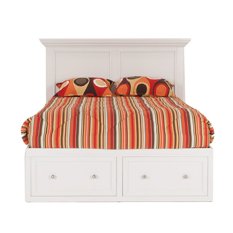 Spencer White Queen Storage Bed