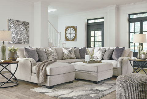 Shop Ashley Furniture Dellara Chalk 4 Piece Sectional at Mealey's Furniture
