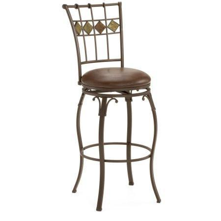 "Shop Hillsdale Lakeview Brown 24"" Swivel Counter Stool   Brown at Mealey's Furniture"