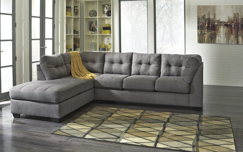 Shop Ashley Maier Charcoal Left Side Chaise Sectional at Mealey's Furniture