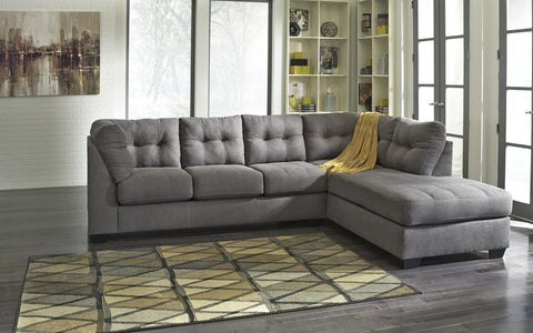 Shop Ashley Maier Charcoal Right Side Chaise Sectional at Mealey's Furniture