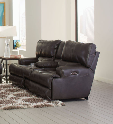 Wembley Steel Reclining Loveseat