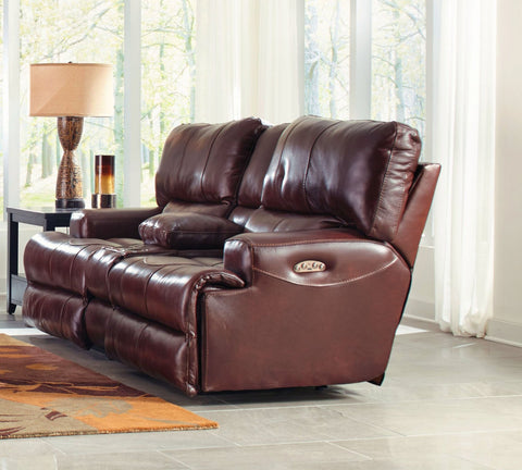 Shop Catnapper Wembley Walnut Power Reclining Loveseat at Mealey's Furniture