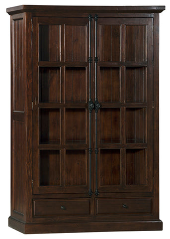 Shop Hillsdale Tuscan Double Door Cabinet Rustic Mahogany 2 Doors Cabinet With Drawers at Mealey's Furniture