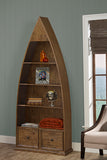 Shop Hillsdale Tuscan Boat Bookcase Antique Pine 4 Shelves Boat Book Case at Mealey's Furniture