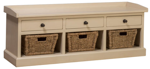Shop Hillsdale Tuscan Country White Bench With 3 Drawers at Mealey's Furniture