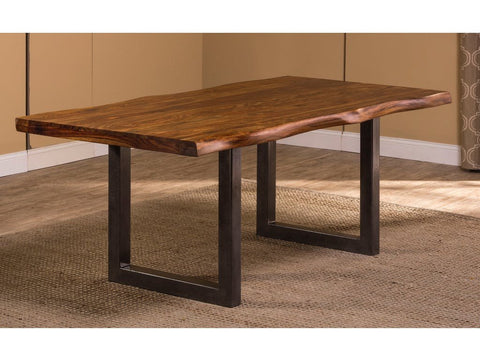 Shop Hillsdale Emerson  Natural Sheesham Rectangle Dining Table at Mealey's Furniture