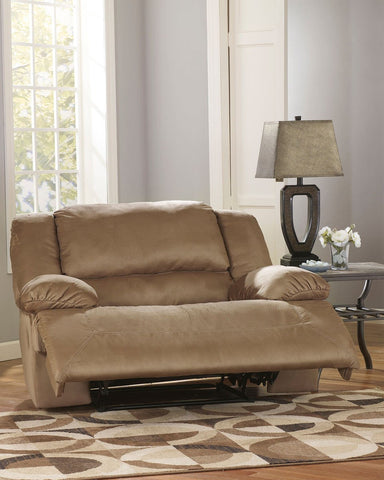Shop Ashley Furniture Hogan Mocha 0 Wall Recliner W/ Wide Seat Box at Mealey's Furniture