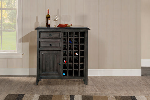 Shop Hillsdale Tuscan Rose Bay Wine Rack Weathered Gray Wine Rack at Mealey's Furniture