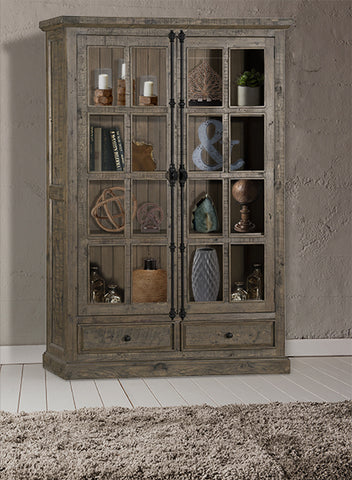 Shop Hillsdale Tuscan Double Door Cabinet Aged Gray 3 Doors Cabinet With Drawers at Mealey's Furniture