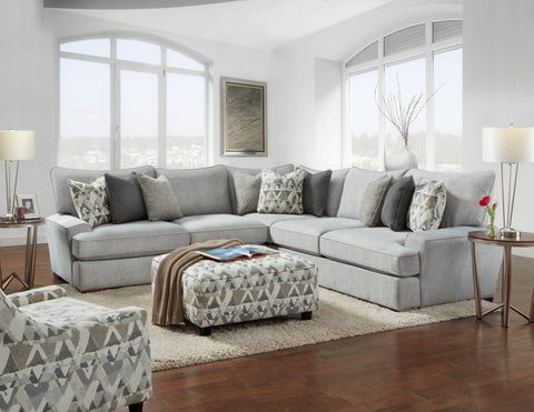Shop Fusion Alton Silver 3 Piece Sectional at Mealey's Furniture