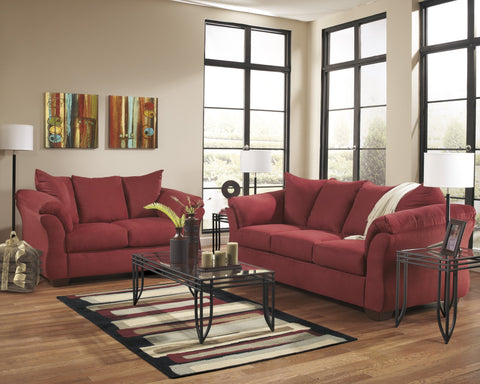 Shop Ashley Furniture Darcy Salsa Sofa and Loveseat at Mealey's Furniture