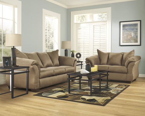 Shop Ashley Furniture Darcy Mocha Sofa and Loveseat at Mealey's Furniture