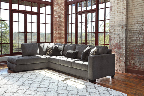 Owensbe Charcoal Left Side Chaise Sectional